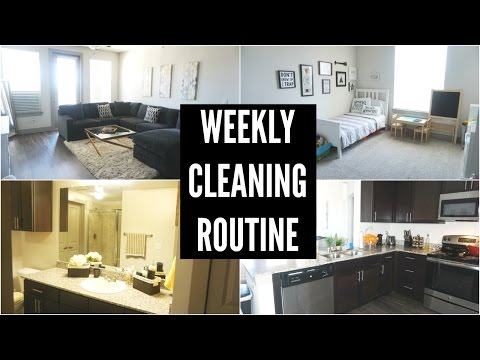 WEEKLY CLEANING ROUTINE 2017 – STAY AT HOME MOM