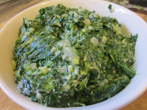 Prep for Vegan Creamed Spinach on Hangouts