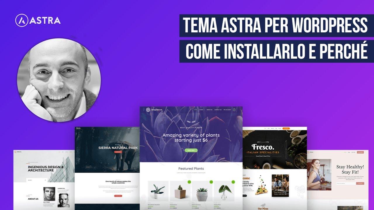 Tema Astra per WordPress