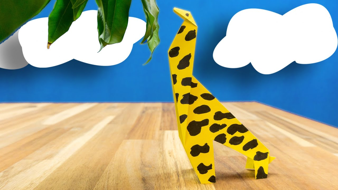 papier giraffe falten kinderleicht erkl rt basteln f r kinder youtube. Black Bedroom Furniture Sets. Home Design Ideas