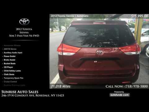 Used 2012 Toyota Sienna | Sunrise Auto Sales, Rosedale, NY