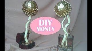 DIY $ ТОПИАРИЙ ИЗ МОНЕТ/ДЕНЕЖНОЕ ДЕРЕВО/Как сделать ТОПИАРИЙ ИЗ ДЕНЕГ/Tree topiary out of money