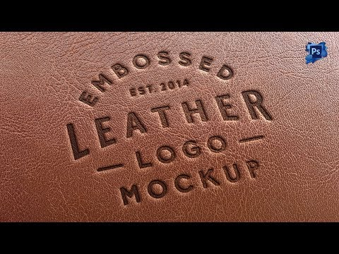 Leather Stamping Logo MockUp - Photoshop Cs6 Tutorial