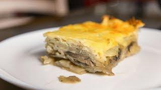 Картошка с грибами под сыром в духовке | Рецепт