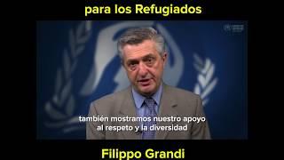 Alto Comisionado de la ONU para los Refugiados, Filippo Grandi, en el Día Mundial del Refugiado 2017