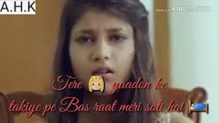 A.H.K status Jab Aankhein Band hoti hai bas Tu Sath Hoti Hai Teri Yaad rakhiye Pe Bas Raat Meri chut