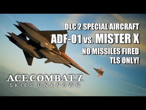 ADF-01 FALKEN With TLS Vs. Mister X - Ace Combat 7: Skies Unknown DLC 2
