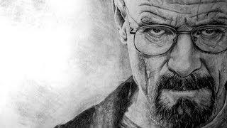 Time Lapse Drawing of Walter White/Bryan Cranston – Breaking Bad Drawing