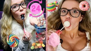 I ONLY ate SWEET foods for 24 HOURS Challenge!