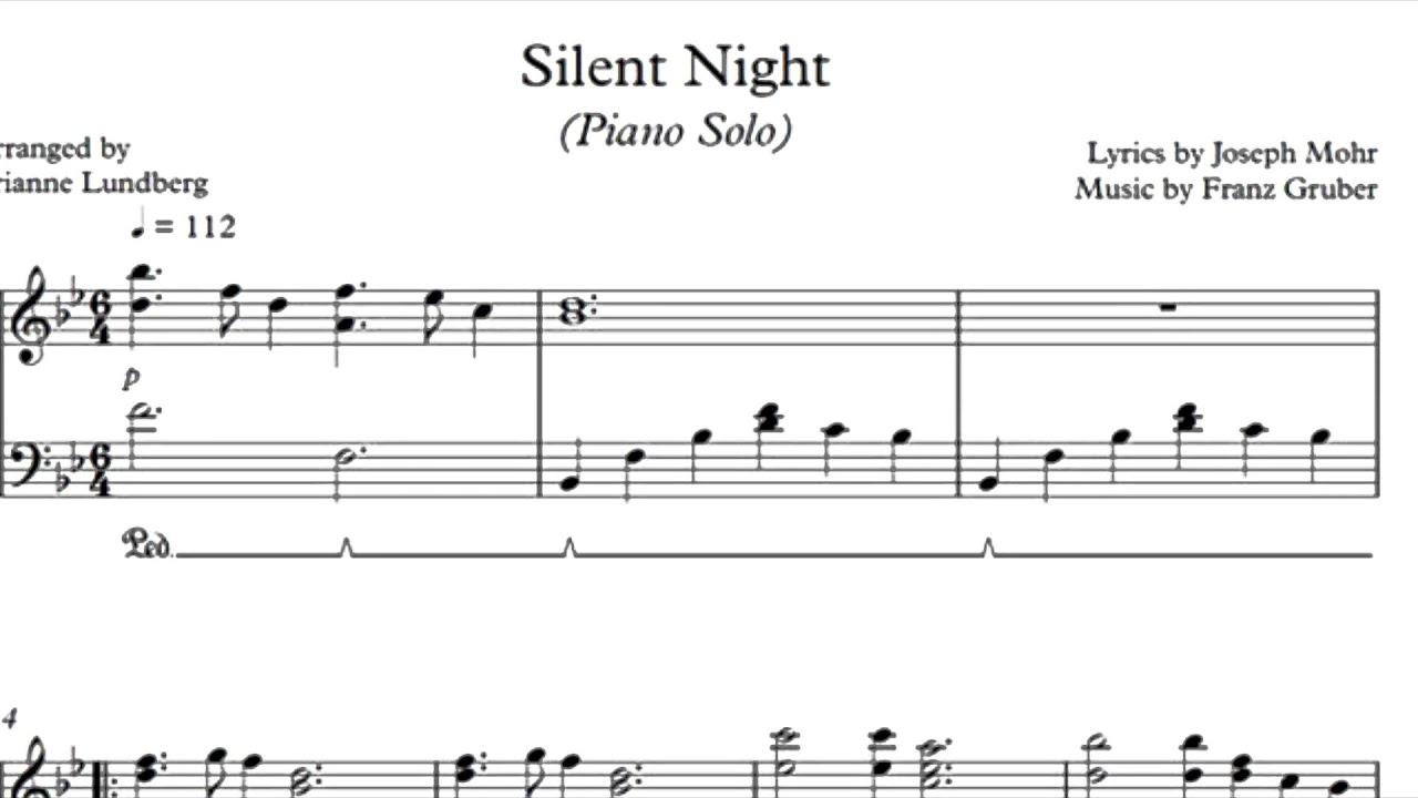Silent night piano solo sheet music youtube silent night piano solo sheet music hexwebz Choice Image