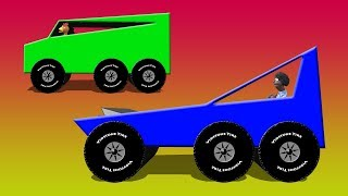 Big Truck Factory 2 - Big Trucks On The Test Track Video For Children
