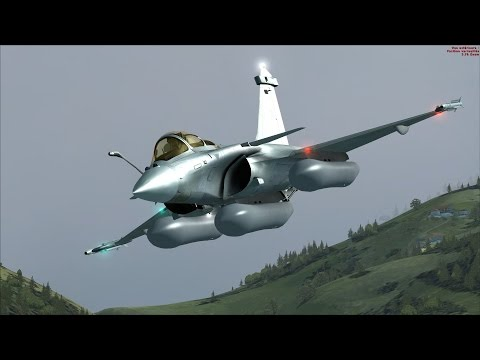 FSX Rafale M Low Level Flight over Corsica [AWESOME REALISM+GRAPHICS]