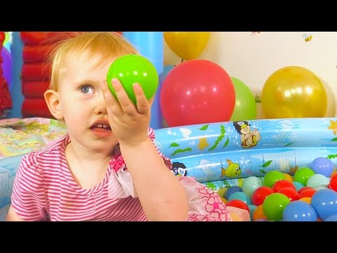 The Balloon Ball Pit Show for Learning Colors - Children's Educational Video
