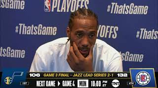 Kawhi Leonard Game 3 Postgame Press Conference | #NBAPlayoffs
