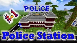 Minecraft Tutorial of Police Station Part-1