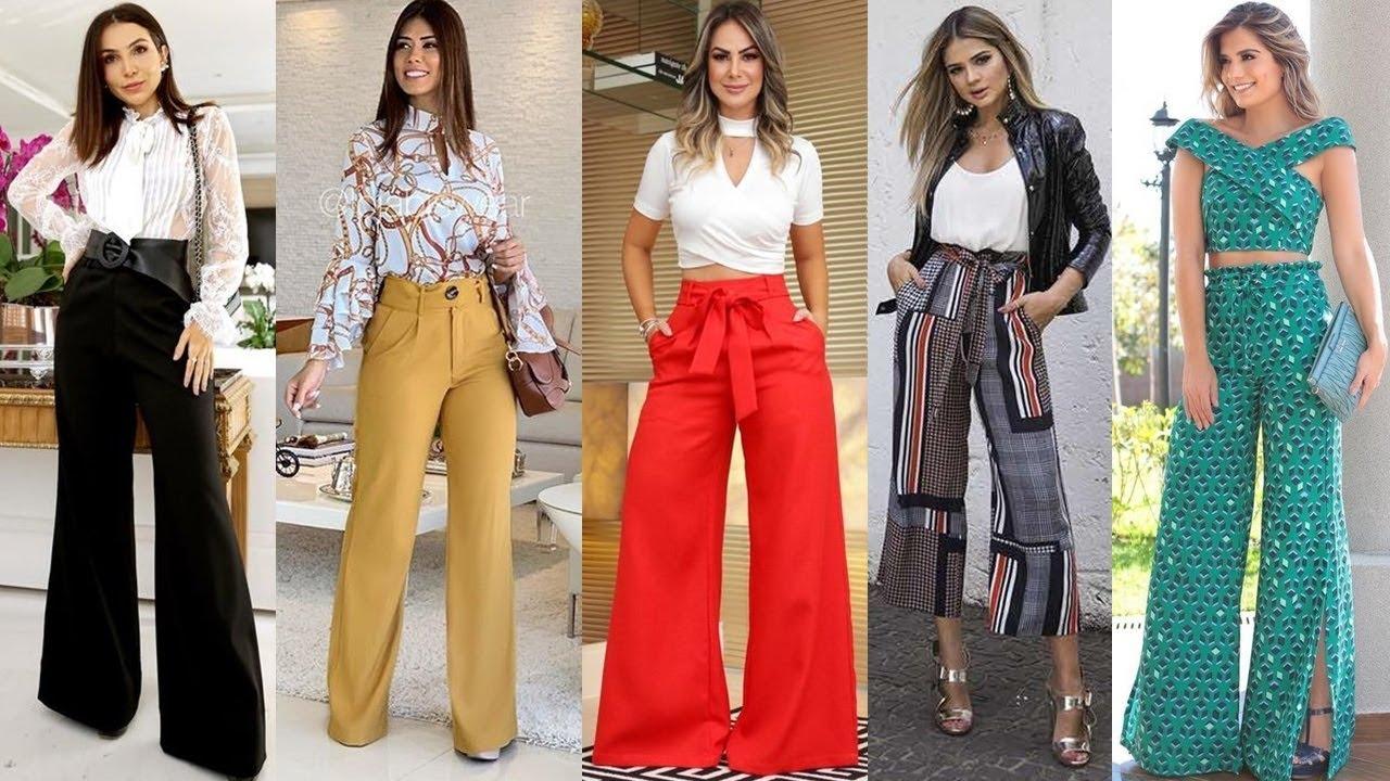 Combinaciones Con Pantalones De Moda Y Tendencia 2019 2020 Palazos Largos Y Cortos Youtube