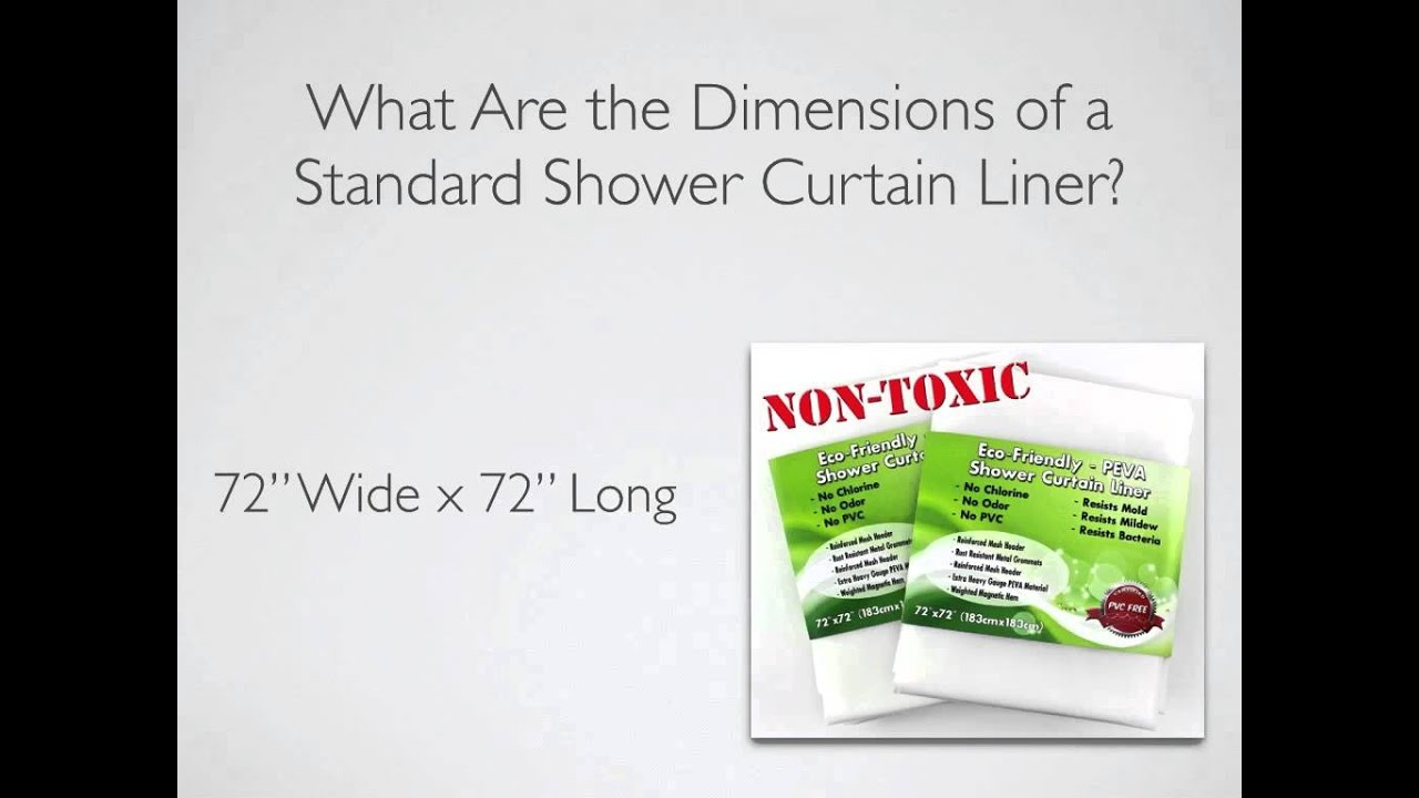 What Are The Dimensions Of A Standard Shower Curtain Liner