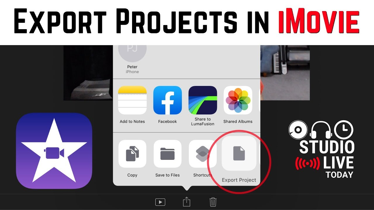How to export projects in iMovie iOS (iPhone/iPad)