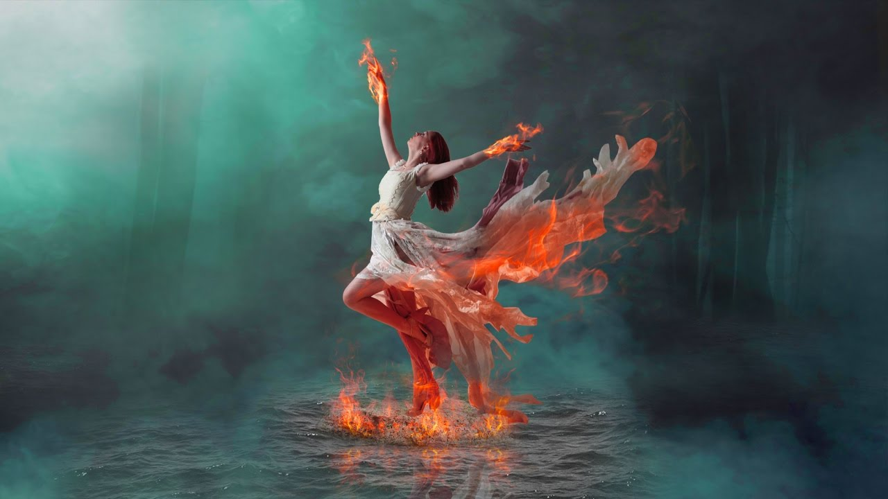 Fire Dancing Photo Manipulation On water / Burning effect ...