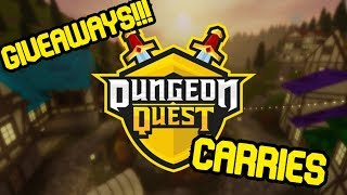 GIVING FREE CARRIES AND GIVEAWAYS!!! *ROBLOX DUNGEON QUEST* (Part 6)