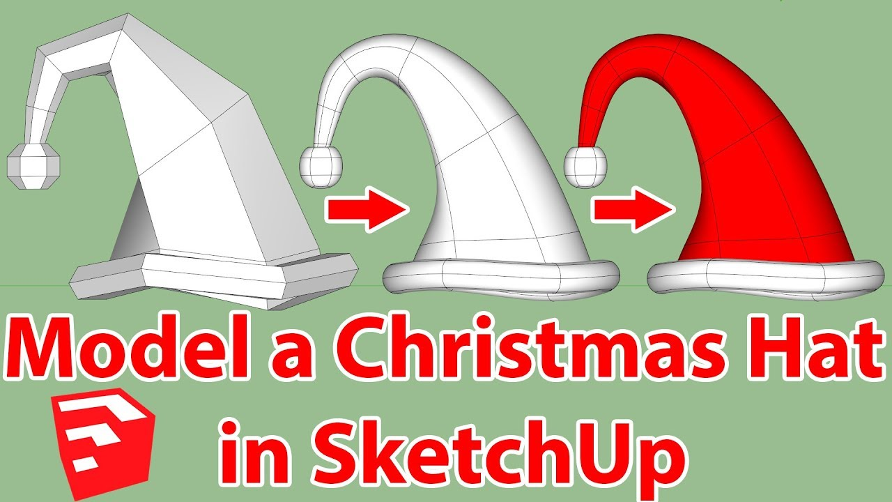 Christmas Hat modeling in SketchUp