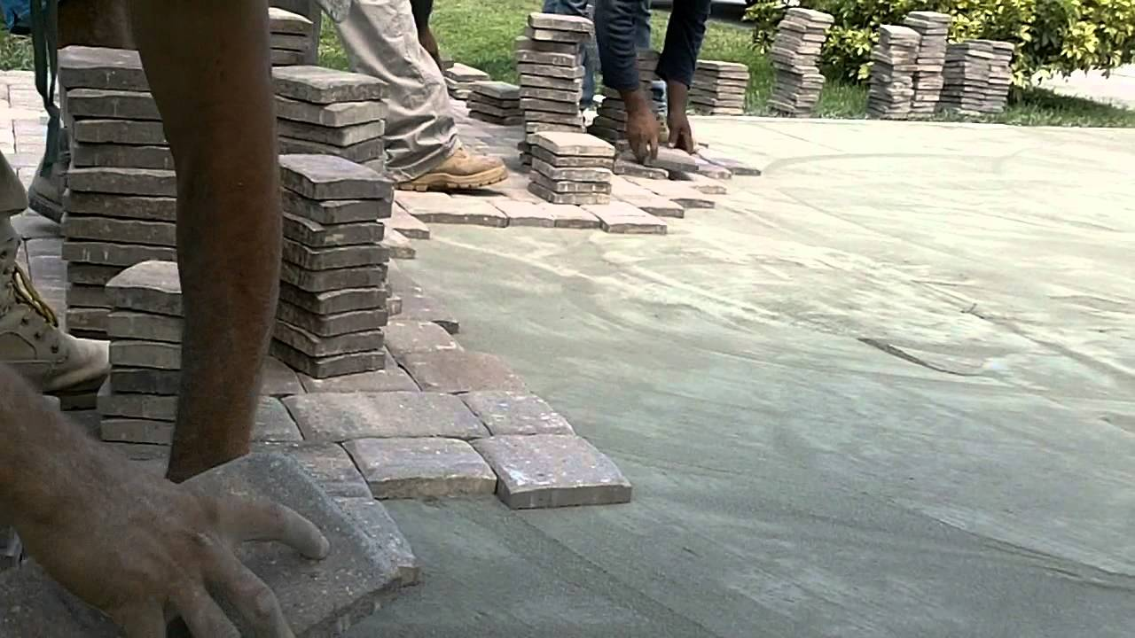 PAVER LOC ONLINE  PAVER DRIVEWAY INSTALLATION OVER CONCRETE  YouTube
