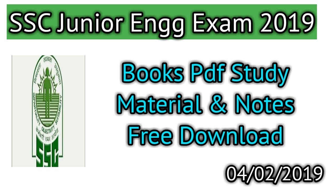 SSC Junior Engg 2019 Books Pdf Study Material,Notes