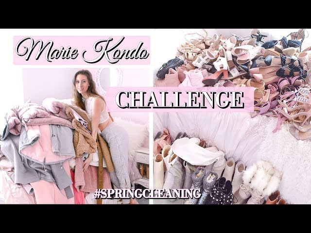 MARIE KONDO CLOSET CLEANOUT // KONMARI CHALLENGE