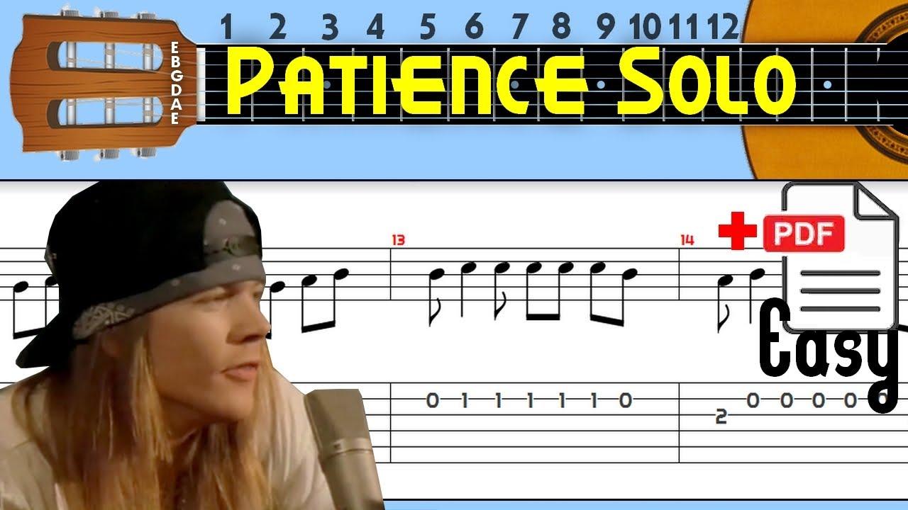 The Easiest Guitar Tabs: Guns n' Roses - Patience Easy solo