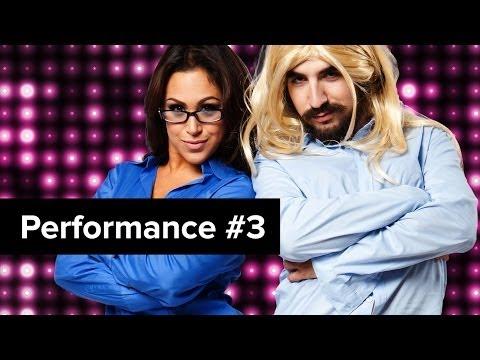 Steve Kardynal Is One Sexy Blonde In A BRA On D-Trix Presents Dance Showdown 3
