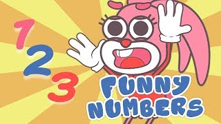 🐰 Learn With Bunnies - Funny Numbers - Funny Bunny Family Episodes for Kids and Children