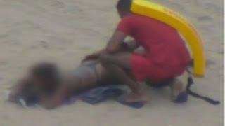 Guarda vidas é flagrado passando a mão em uma mulher na praia, sua conduta está sendo investigada!!