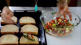 Peynirli  Biberli  Ekmek Tarifi ( Çok  pratik bir  kahvaltılık )