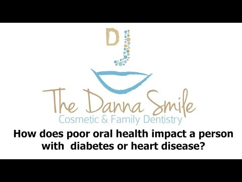 How does poor oral health impact a person with diabetes or heart disease?