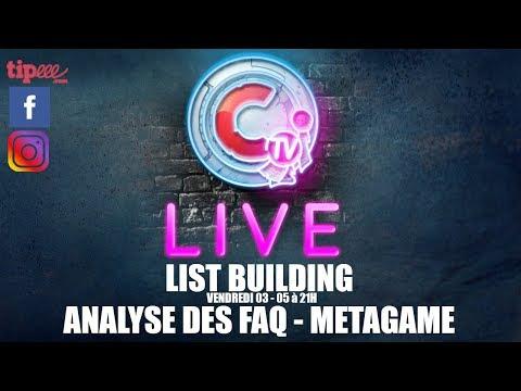 CTV Live - METAGAME - analyse de vos listes & analyse de la nouvelle FAQ
