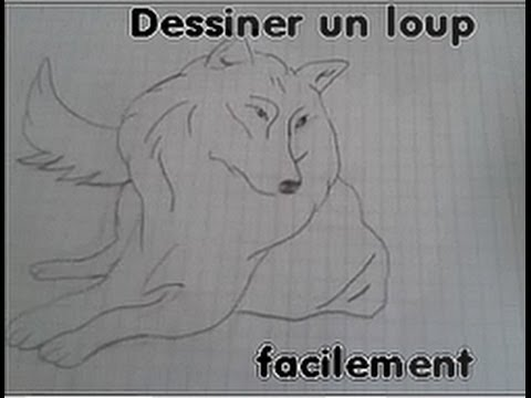 Comment dessiner un loup facilement youtube - Dessin de loup simple ...