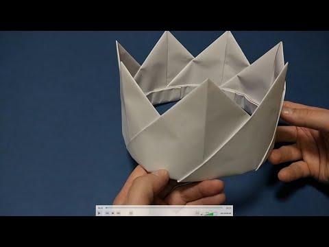 КОРОНА из бумаги. CROWN made of paper