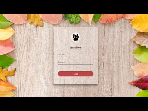 Transparent Login Form using html and css | Login Form in html website