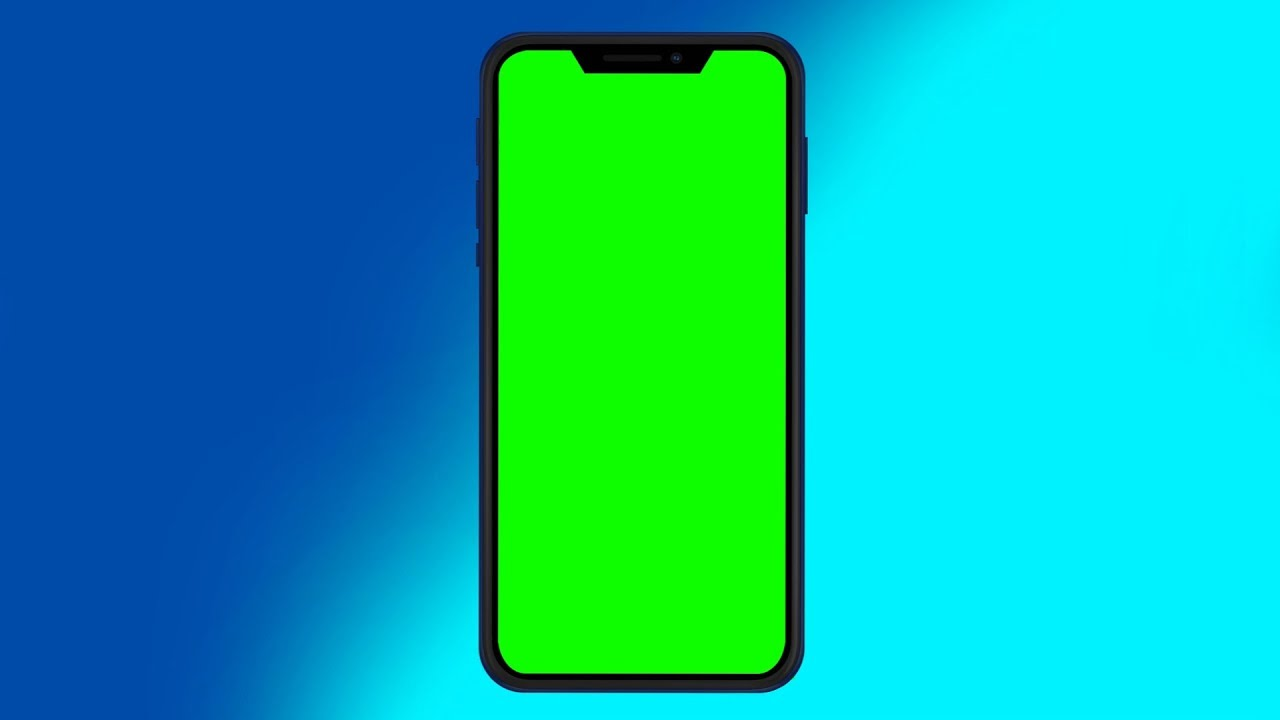 Smartphone Green Screen [Celular Chroma Key] +Background (Modelo #1)