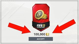 HOW TO GET 100K FOR FREE!!! (Fifa 17 Ultimate Team)