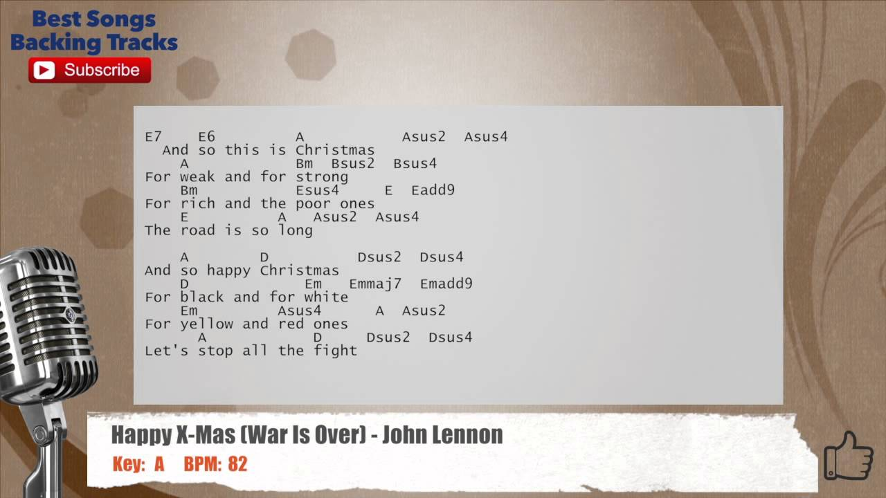 Happy X-Mas (War Is Over) John Lennon Vocal Backing Track with ...