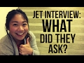 JET Program Interview: WHAT DID THEY ASK???