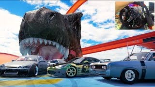 Forza Horizon 3 GoPro Hot Wheels Online TANDEM JUMP DRIFT 360 MID AIR!!