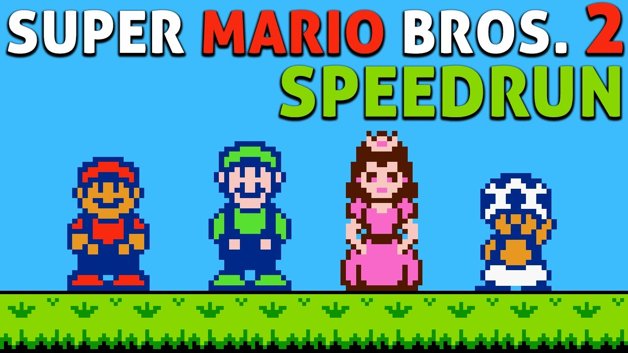 Super Mario Bros. 2 in 9:21 (Toad only Speedrun)