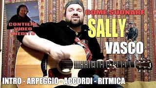 """Tutorial - Come suonare """"Sally"""" di Vasco - chitarra acustica"""