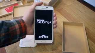 Verizon Samsung Galaxy S 5 Unboxing & First Look