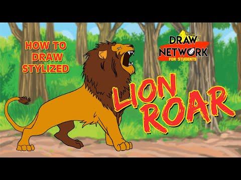 HOW TO DRAW A STYLIZED LION ROAR