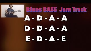 BASS Backing Track with guitar solo - Blues Shuffle (A)