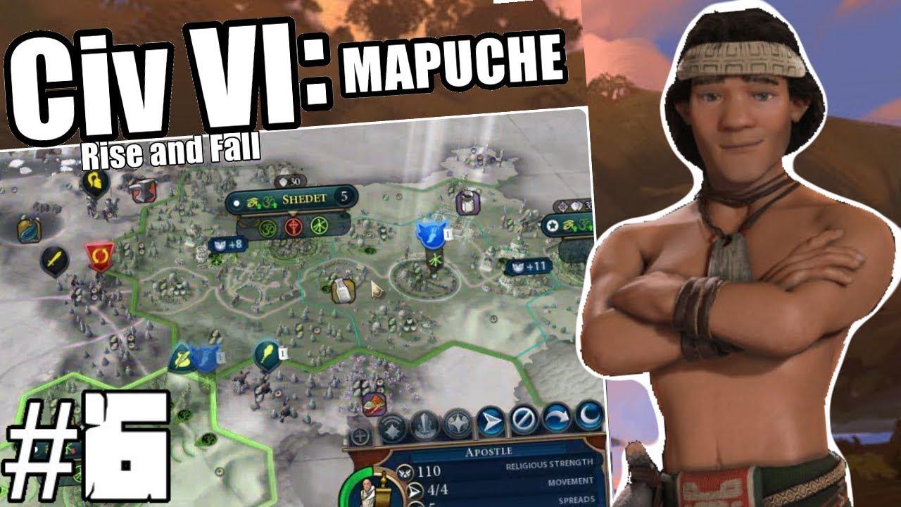 Civilization VI: Lautaro of the Mapuche - Episode 6: Spanish Inquisition    Rise And Fall Expansion