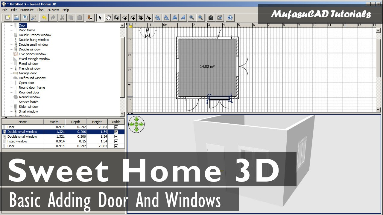 You need to make sure that you choose an opener you can rely on when you need it most for safety and convenience reasons. Sweet Home 3d Adding Door And Windows Youtube